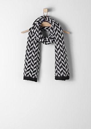 Gebreide sjaal met zigzagmotief