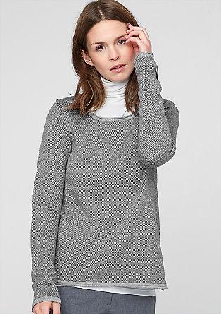 Gebreide trui met een bicolour look