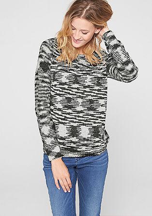 Gebreide trui met een camouflagelook