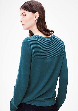 Gebreide trui met een structuurtje
