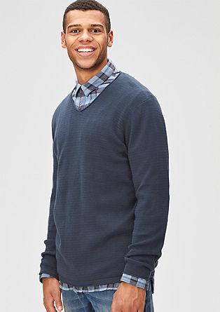 Gebreide trui met fijn motief