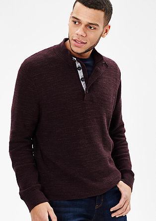Gebreide trui met gemêleerde look