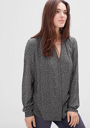 Gedessineerde blouse van modal
