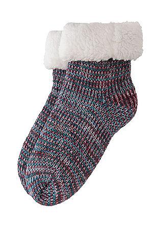 Gefütterte Melange-Socken