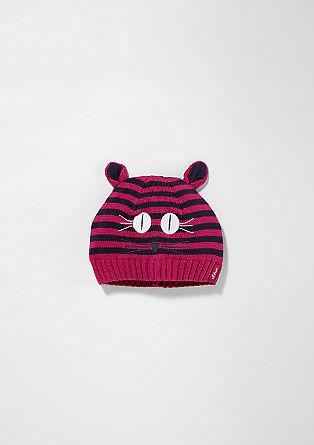 Gefütterte Mütze im Katzen-Look