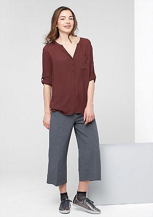 Geknöpfte Bluse aus Viskose