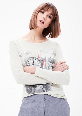 Gemêleerd shirt met fotoprint