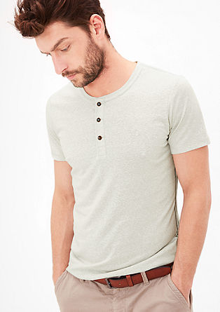 Gemêleerd shirt met knoopsluiting