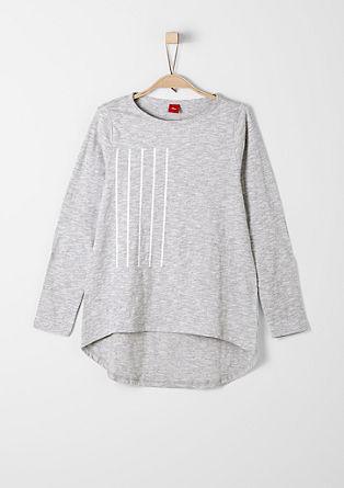 Gemêleerd shirt met verlengd rugpand