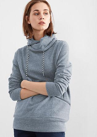Gemêleerd sweatshirt met turtleneck