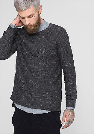Gemêleerde, fijngebreide trui