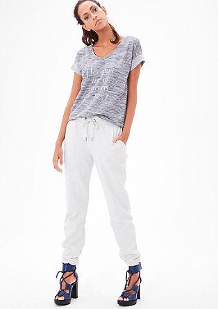 Gemêleerde jogger style pants