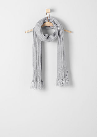 Gemêleerde sjaal met franjes