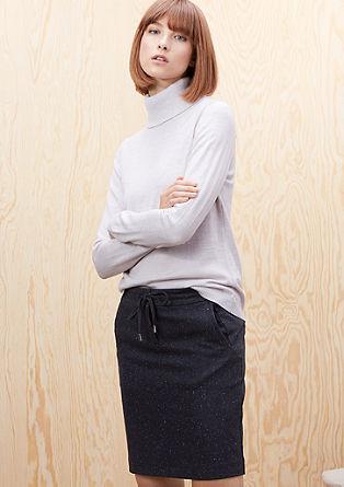 Gemêleerde tweed rok