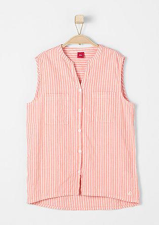 Gemusterte Bluse ohne Ärmel