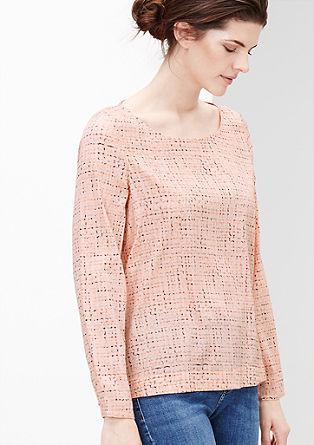 Gemusterte Shirtbluse