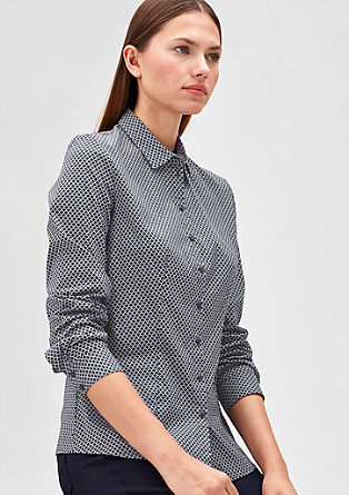 Gemusterte Stretch-Bluse