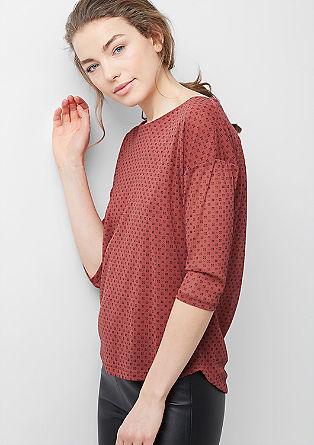 Gemustertes Mesh-Shirt