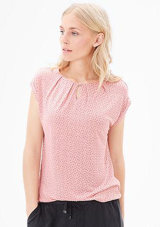 Gemustertes Slub Yarn-Shirt