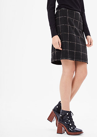 Gepassepoileerde rok met wollook