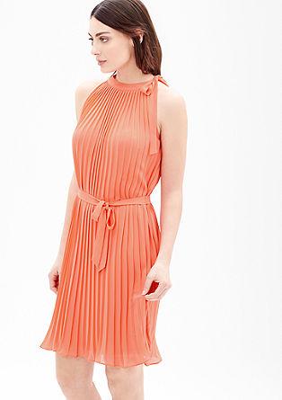 Geplisseerde jurk met strik