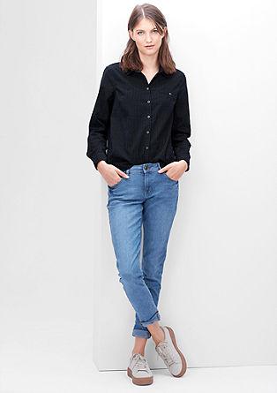 Gepunktete Feincord-Bluse