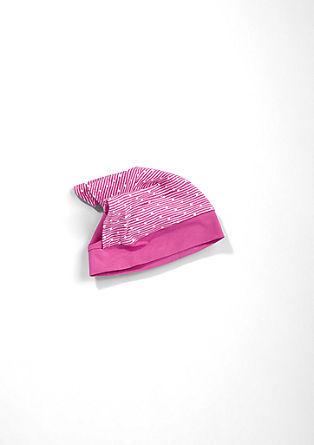 Gepunktetes Kopftuch mit Mütze