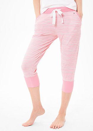 Geringelte Pyjamahose