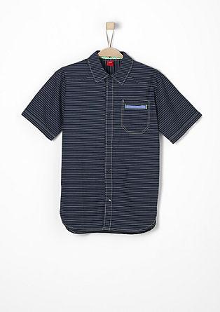 Geringeltes Baumwollhemd