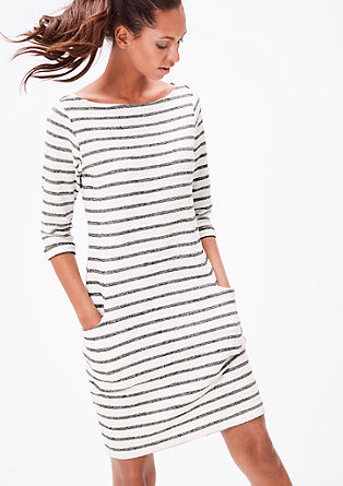 Geringeltes Sweatshirt-Kleid