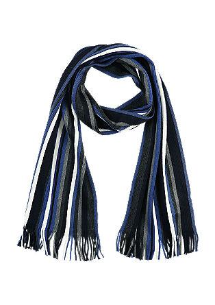 Gerippter Schal aus Woll-Mix