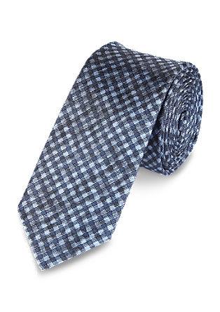 Geruite, zijden stropdas