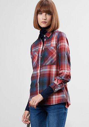 Geruite blouse met flanellen look