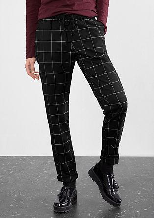 Geruite jogger style pants