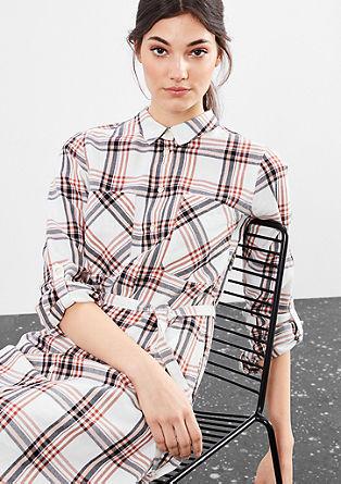 Geruite shirt dress