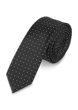 Gestippelde, zijden stropdas
