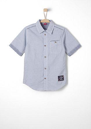 Gestreept overhemd met korte mouwen