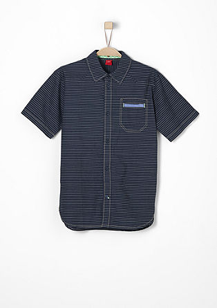 Gestreept overhemd van katoen