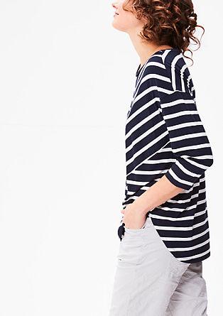 Gestreept shirt met 3/4-mouwen