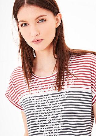 Gestreept shirt met borduursel