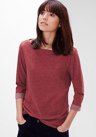 Gestreept shirt met een boothals