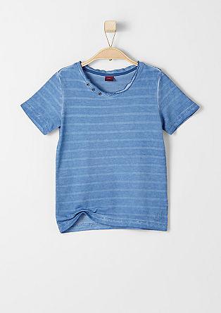 Gestreept shirt met een used look