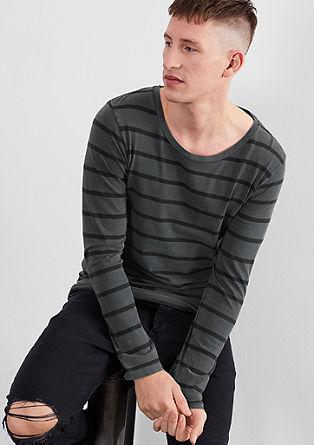 Gestreept shirt met een vintage-look