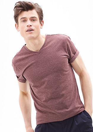 Gestreept shirt met V-hals