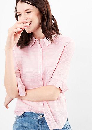 Gestreepte blouse met 3/4-mouwen