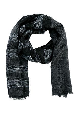Gestreepte geweven sjaal