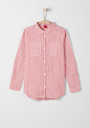 Gestreepte katoenen blouse