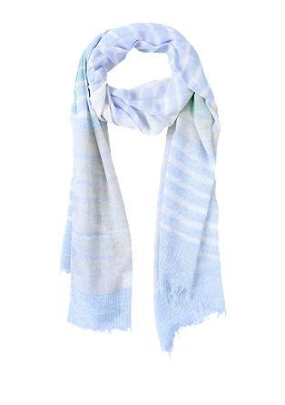 Gestreepte sjaal in pastelkleuren