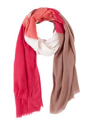 Gestreepte sjaal met geweven structuur