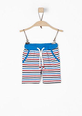 Gestreifte Jersey-Shorts